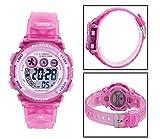 Wise® Children Girls Watches, Digital LCD Watches, Sports Watches, Kids Teenager Watches, Waterproof Watches, Kids Watches 239g Pink