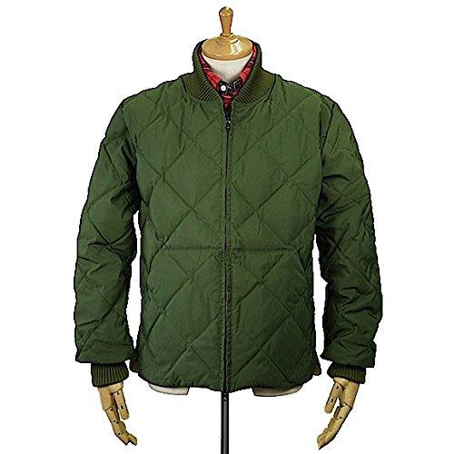 Crescent Down Works(クレセント ダウン ワークス)Diagonal Quilt Sweater 60/40 Cloth Olive x Khaki ダイヤゴナル キルト セーター ダウンジャケット アメリカ製 Sサイズ
