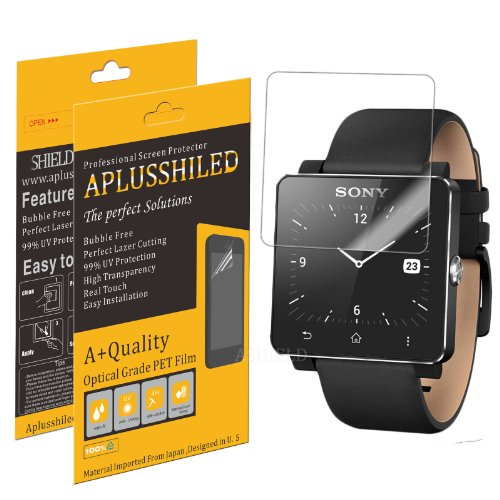 Aplusshield - Sony Smartwatch 2 Crystal Clear Screen Protectors With Anti-Bubble/Scratch -6-Pack + Lifetime Replacements