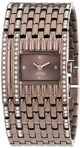 Esprit - ES103922004 - Montre Femme - Quartz Analogique - Bracelet Acier Inoxydable Marron