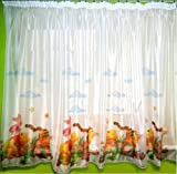 Disney voile net curtains WINNIE THE POOH-width 75cm/29.5