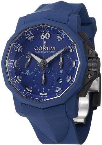 Corum Admiral's Cup Challenger 44 Chrono Men's Blue Rubber Strap Automatic Watch 753.807.02/F373 AB21