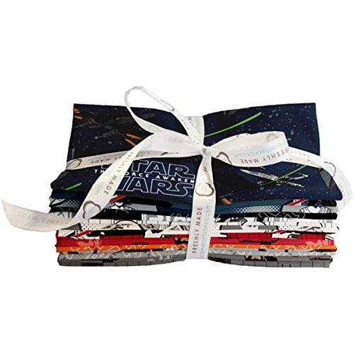 Camelot Fabrics 7360109FQB 21 Piece Star Wars: The Force Awakens Fat Quarters, 18