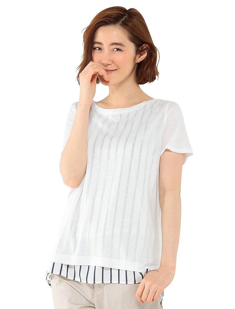 Amazon.co.jp: (エーシーデザインバイアルファキュービック)A/C DESIGN BY ALPHA CUBIC 裾ストライプ切替プルオーバー: 服&ファッション小物通販