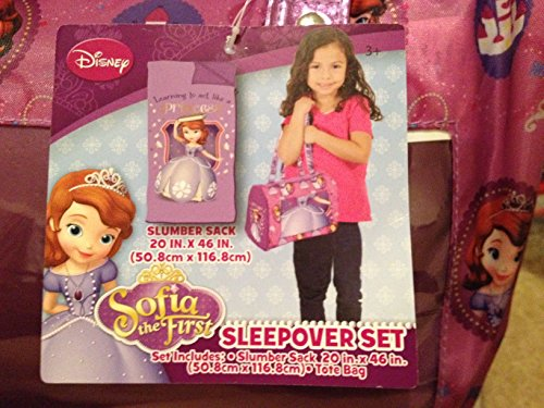 Disney Sofia 3-Piece Toddler Sleepover Slumber Sack with Purse and Bonus Eye Mask - 1