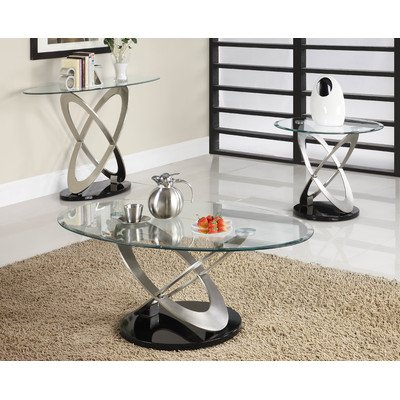 Firth Coffee Table Set Finish: Chrome