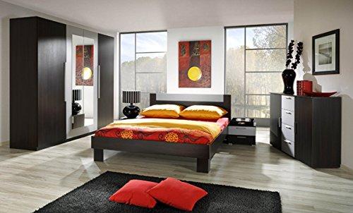 Schlafzimmer komplett 4-teilig 54038 wenge / alu