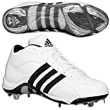 Adidas Excelsior 5 Mid Men's Metal Baseball Cleats, White/Black, 7.5