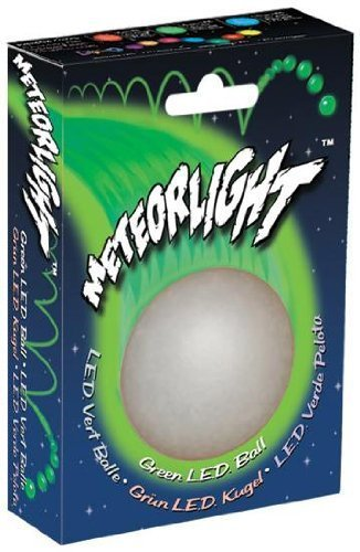 Nite Ize MeteorLight LED Light Up K9 Ball Glowing Dog Toy Float Color:Green Size:Pack of 2