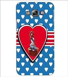 PrintDhaba Love Girl D-1120 Back Case Cover for SAMSUNG GALAXY E7 (Multi-Coloured)