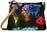 Snoogg Think map Womens Carry Around Sling Bags