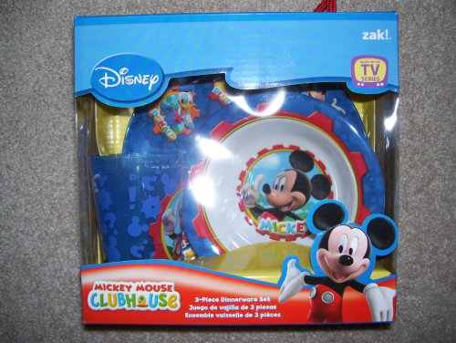 Mickey Mouse Clubhouse 3pc Dinnerware Set - Buy Mickey Mouse Clubhouse 3pc Dinnerware Set - Purchase Mickey Mouse Clubhouse 3pc Dinnerware Set (Zak, Toys & Games,Categories,Pretend Play & Dress-up,Sets,Cooking & Housekeeping,Cooking & Baking Kits)