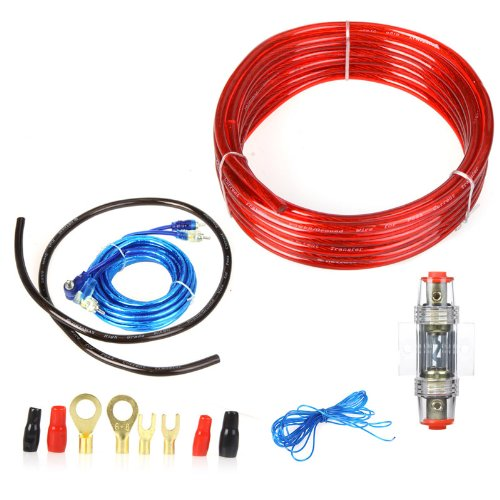 Chicho 1500W 8Ga Car Audio Subwoofer Amplifier Amp Wiring Fuse Holder Wire Cable Kit