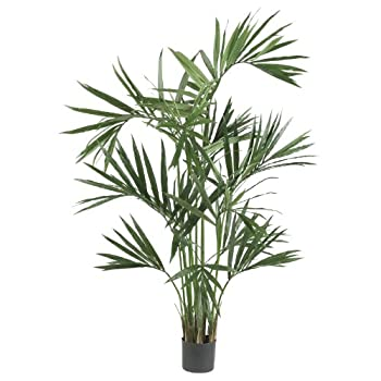 Nearly Natural 5308 Kentia Palm Silk Tree, 6-Feet, Green