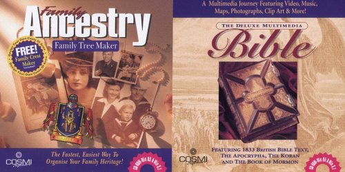 Family Ancestry & Deluxe Mulitmedia Bible Double Pack