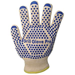 Barbecue and Oven Gloves - 2 Professional Premium Cooking Gloves Heat Resistant - Perfect... by Grill Glove Pro