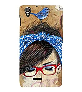 Vizagbeats sparrow on head Back Case Cover for Lava 800
