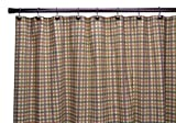 Charlestown Check Bathroom Shower Curtain, Brown