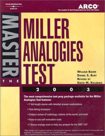 Arco Master the Miller Analogies Test 2003