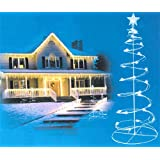 Set of 2 Cool White LED Lighted Outdoor Spiral Christmas Trees Yard Art 3', 4'