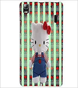 PrintDhaba Kitty Toy D-3284 Back Case Cover for LENOVO K3 NOTE (Multi-Coloured)