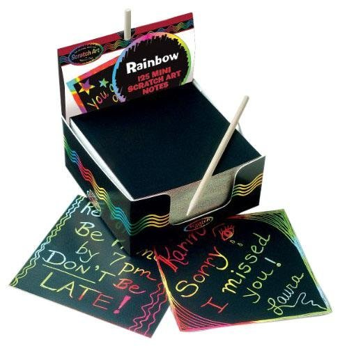 Melissa & Doug Rainbow Mini Scratch Art Notes (Single Box of 125)