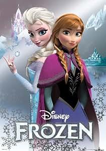 Framed Frozen  Cast 24x36 Wood Framed Poster Disney Movie