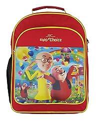 Right Choice Nursery,Lkg,Ukg,Kids,Girls,Boys,Motu Patlu,School bag,Red & yellow (RCS4047)