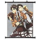 Attack on Titan (Shingeki no Kyojin) Anime Fabric Wall Scroll Poster (16x23) Inches