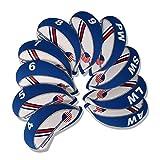 CRAFTSMAN(クラフツマン)限定200セット半額販売 生産ミスで品質同じ色だけ間違い ゴルフアイアンカバー アメリカフラグ 10枚入り 薄いブルー