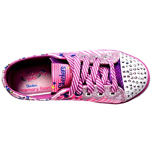 Skechers Girls' Twinkle Toes Chit Chat Dizzy Dayz,Pink,US