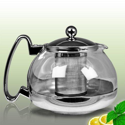 Théière en verre avec infuseur de thé