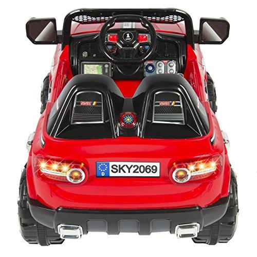 Power wheels 12v red truck suv motor sports car for kids for Motor racing for kids