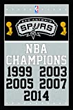 Trends International San Antonio Spurs Champions Wall Posters, 22