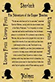 A4 Size Parchment Poster Literary First Lines Sherlock Holmes The Adventure of the Copper Beeches