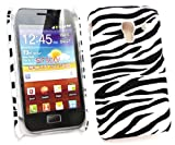 Emartbuy Samsung S7500 Galaxy Ace Plus Zebra Black / White Clip On Protection Case/Cover/Skin