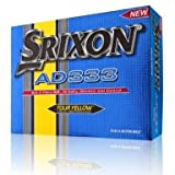 SRIXON AD333 YELLOW GOLF BALLS. ONE DOZEN