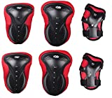 Eforstore Unisex Adult Sports Knee, Elbow, Wrist Support Protection Safety Protective Gear Pads Set Skateboard Cycling Roller Skating Extreme Sports Protector
