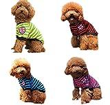 ange select 愛犬 カジュアル ファッション 犬 用 ボーダー Tシャツ 国旗 ユニオンジャック イギリス 柄 ワッペン 小型 中型 ドッグ (ブルーXL)