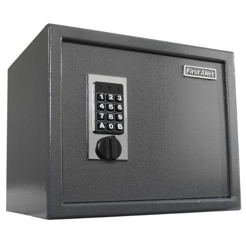 First Alert 2072F Anti-Theft Safe with Digital Lock, 1.00 Cubic Foot, Gray (1 Cubic Foot Safe compare prices)