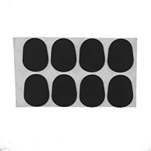 Kasteco 40 Pieces Black Mouthpiece Cushion 0.8 mm Mouthpiece Patches for Alto and Tenor Saxophone and Clarinet (Color: black)
