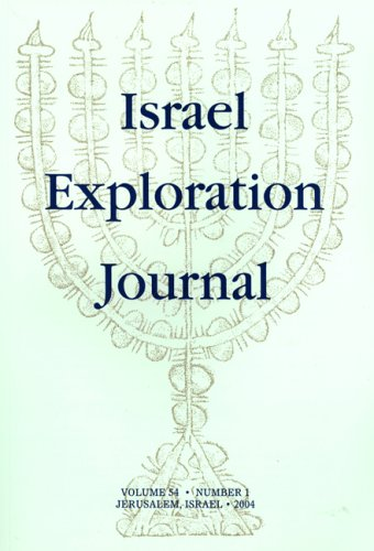 Israel Exploration Journal israel and palestine