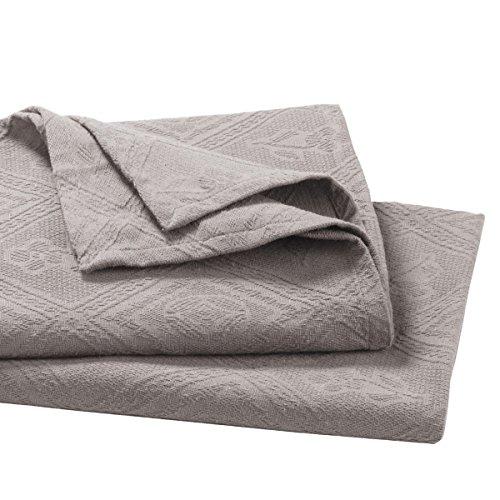 La Redoute Interieurs Indo Jacquard Cotton Pique Bedspread