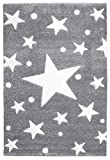 Kinderteppich Happy Rugs STARS silbergrau