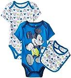 Disney Baby-Boys  Mickey Mouse Three-Piece Bodysuit Set