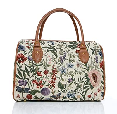ladies weekend bag/travel duffle bag/gym bag/cabin approved hand luggage Morning Garden Design