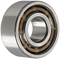 SKF 3203 ATN9/C3 Double Row Ball Bearing, Converging Angle Design, 30° Contact Angle, ABEC 1 Precision, Open, Plastic Cage, C3 Clearance, 17mm Bore, 40mm OD, 11/16