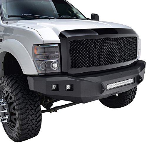E-Autogrilles 08-10 Ford F-250/F-350/F-450 Super Duty Glossy Black ABS Replacement Mesh Grille Grill with Shell (41-0101B) (08 Ford F250 Super Duty Grill compare prices)