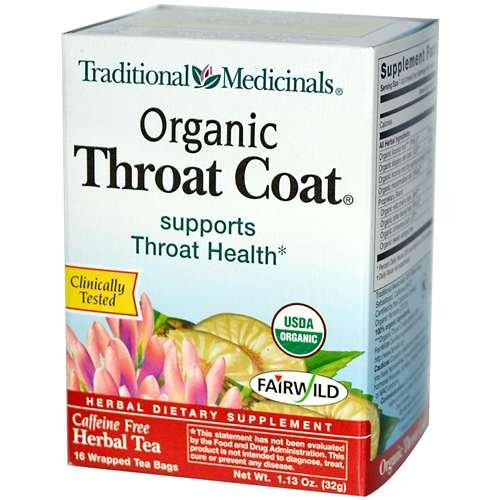 Traditional Medicinals Organic Throat Coat Herbal Tea -- 16