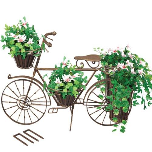 Bronze Bicycle Planter